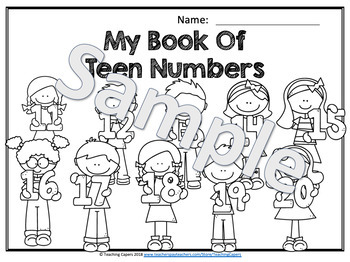 No Prep Counting Teen Numbers 11-20 Worksheets