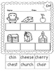 No Prep Cut and Paste Digraphs WH, SH, CH & TH