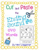 No Prep Cut and Paste Final Ending Sound CVC Words #3