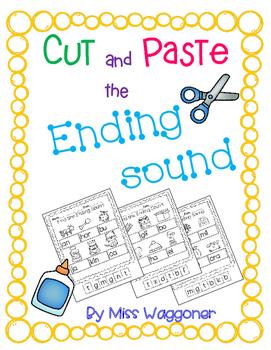 No Prep Cut and Paste Final Ending Sounds