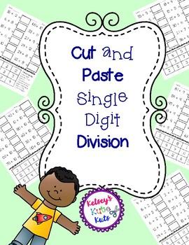 No Prep Cut and Paste Single Digit Division