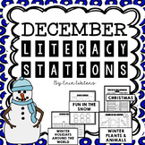 No Prep December Literacy Stations {Christmas, Holidays Around the World,& More}
