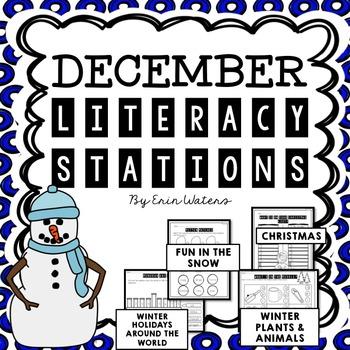 No Prep December Literacy Stations {Christmas, Holidays Ar