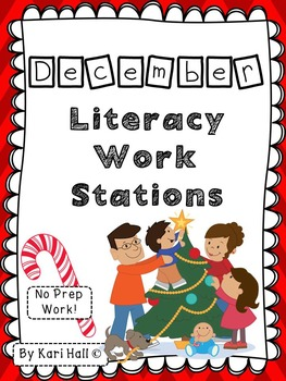 No Prep December Literacy Work Stations and Word Wall Words
