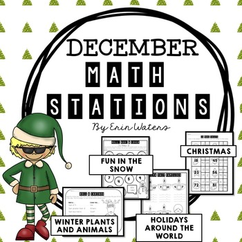 No Prep December Math Stations {Holidays Around the World, Christmas, & More!}