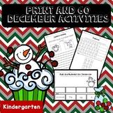 No Prep December Math and Literacy (Kindergarten)