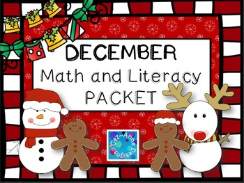 No Prep!!!  December Math and Literacy Packet