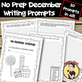 No Prep December Writing Homework
