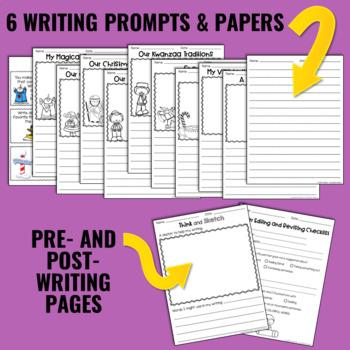 Writing and Word Work Package for December - NO PREP!