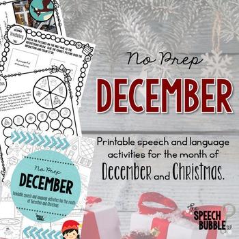 No Prep December and Christmas