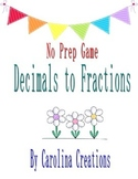 No Prep Decimals to Fractions Tenths and Hundredths Game 4.NF.C.6