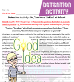 No Prep Detention Activity: So, You were Unkind at School