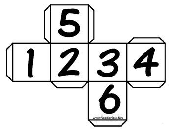 No Prep Dice Math Printable Center or Workbox
