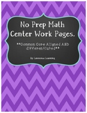 No Prep Differentiated Common Core Aligned Addition Pages