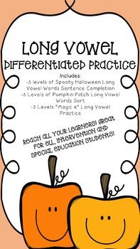 No Prep Differentiated Long Vowel Activities