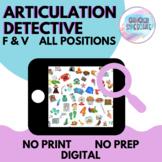 Articulation Detective (F/V) | No Prep No Print Digital
