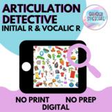 No Prep No Print Digital | Articulation Detective (Initial R, Vocalic R)