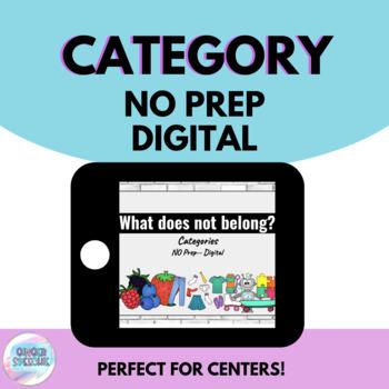 No Prep No Print Digital | What does not belong? Category