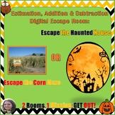 No Prep Digital Escape Room Haunted House/Corn Maze Estimate with Add and Sub!