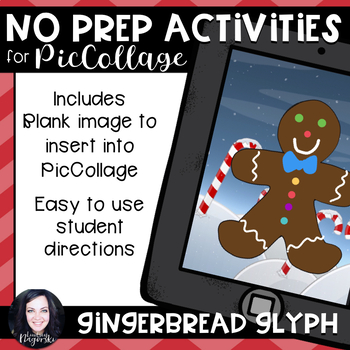 No Prep Digital Gingerbread Glyph for Pic Collage