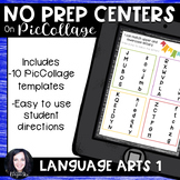 No Prep Digital Language Arts Centers for Pic Collage and Seesaw Set 1