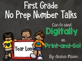 No Prep Digital Number Talks Growing Bundle - Distance Learning