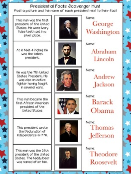No Prep Digital Presidents Day Acivities for Pic Collage