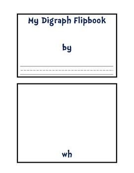 No-Prep Digraph Flipbook