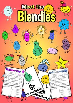 Blendies No Prep Digraphs - Blends - Reading Fluency Passages - 28 Characters