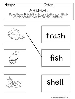 No Prep! Digraphs (sh, ch, th, wh) Phonics Activities & Literacy Centers