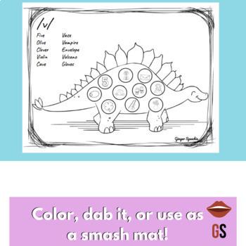 No Prep Dinosaur Articulation Coloring: All Sounds