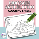 No Prep Dinosaur Articulation Coloring: All Sounds