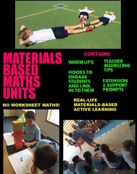 Division Unit Plan - Materials Based Maths with 30+ Lessons Grade K/P 1 2