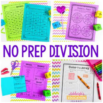 No Prep Division Printables - Fun Activities, Games, and Worksheets