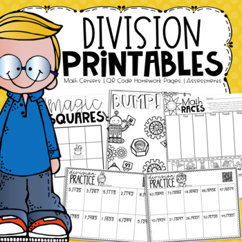 No Prep Division Printables {Centers, Small Groups, Homework, Assessments}