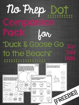 """No Prep Dot Companion Pack for """"Duck & Goose Go to the Beach!"""""""