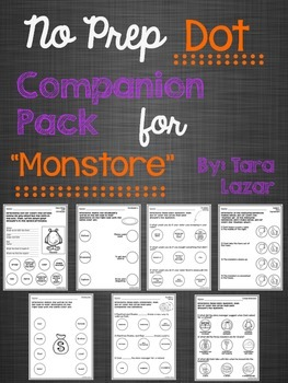 "No Prep Dot Companion Pack for ""Monstore"""