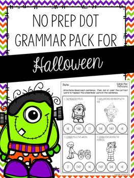 No Prep Dot Grammar Pack for Halloween