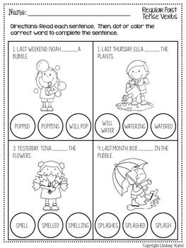 No Prep Dot Grammar Pack for Spring
