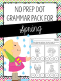 No Prep Dot Grammar Pack for Spring