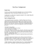 No Prep Drama / Dance / End of Year Lip Sync Battle Assignment