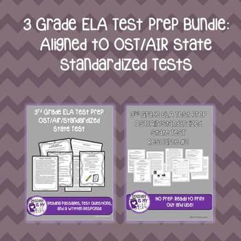 No Prep ELA 3rd Grade Test Prep Bundle OST/AIR Aligned