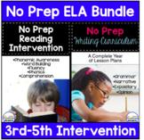 No Prep ELA Curriculum Bundle For 3rd-5th grade Intervention