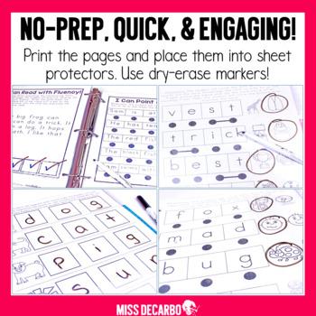 Reading Intervention Binder for Beginning Readers No Prep ELA
