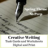 No Prep - ELA - Creative Writing Print & Digital Task Card