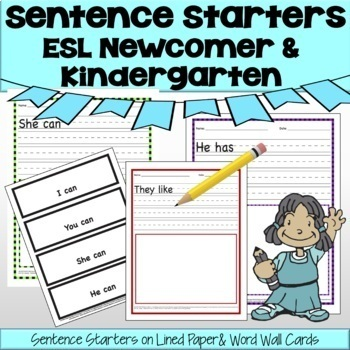 ESL Newcomer Sentence Starters Activities - No Prep!  ✅Great for remote learning