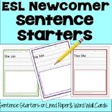 English as a Second Language ESL EFL Newcomer Sentence Sta