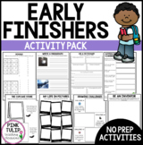 No Prep Early Finisher Worksheet Pack - Great for Substitu