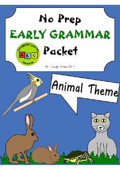 No Prep - Early Grammar Packet