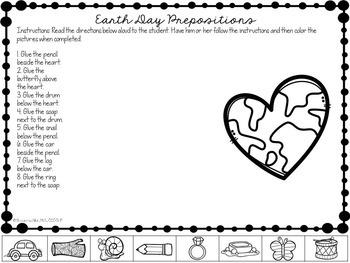 Freebie: No Prep Earth Day Prepositions